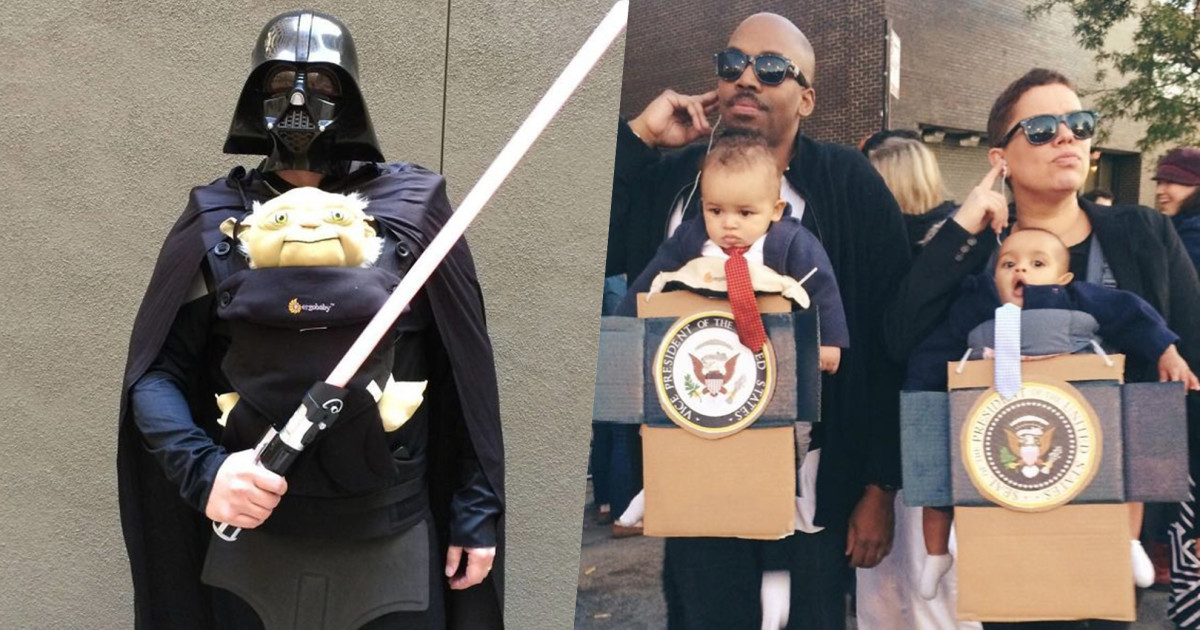 59 Halloween Costumes For Parents Whose Baby Carriers Are Their Second Skin