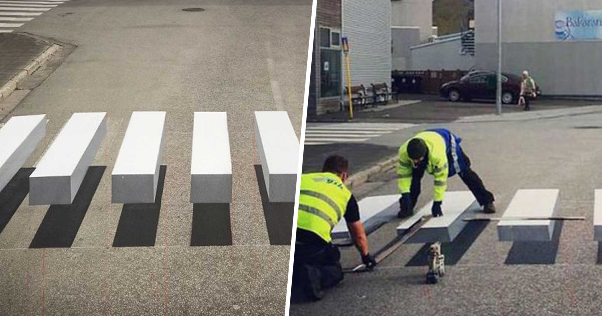 A Town In Iceland Created An Insane 3D Crosswalk To Slow Down Drivers