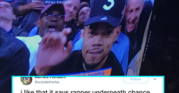 Bizarre TV Caption Identifying Chance The Rapper Has Twitter Rolling With Laughter