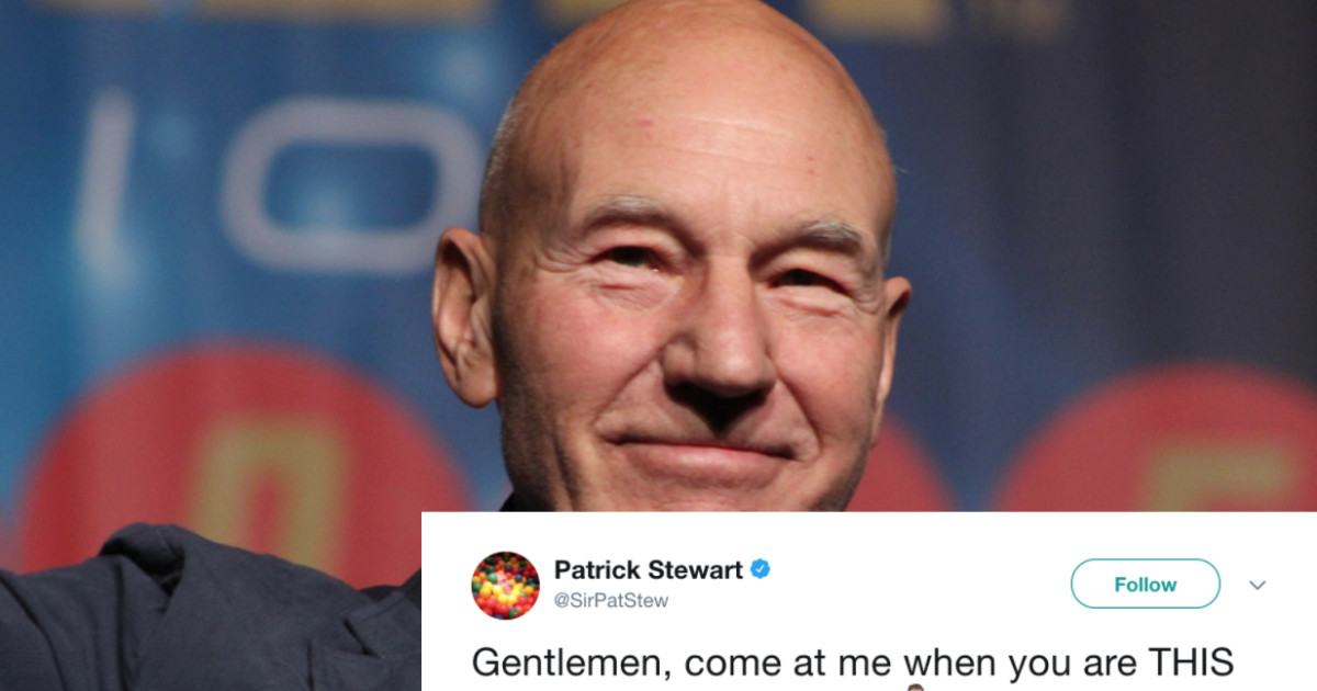 Sir Patrick Stewart Reacts To Blake Shelton Winning 'Sexiest Man'–And He's Ready For A Fight