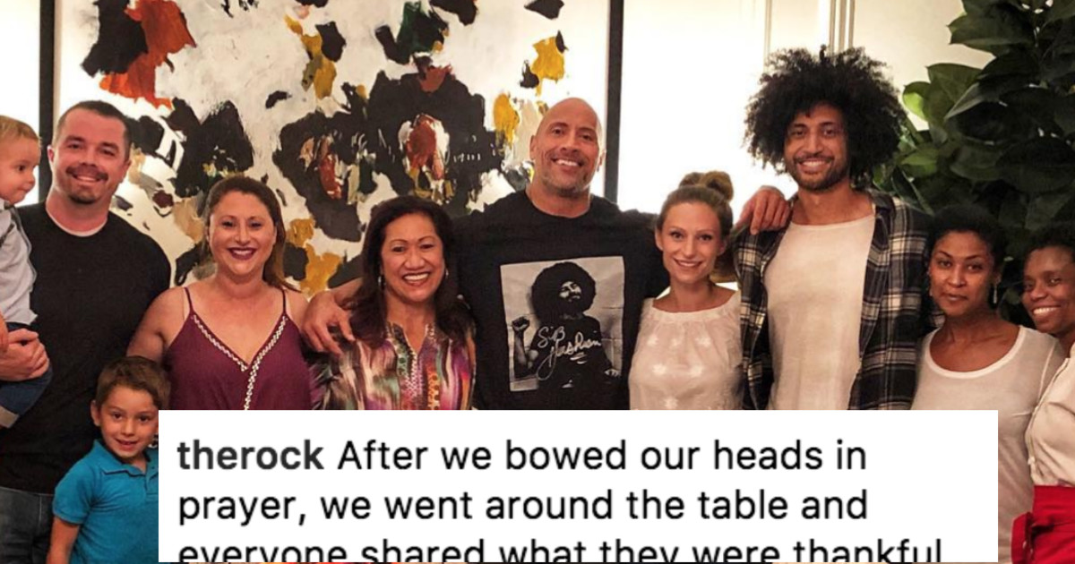 The Rock Talks About Growing Up Poor In Grateful Thanksgiving Instagram Post