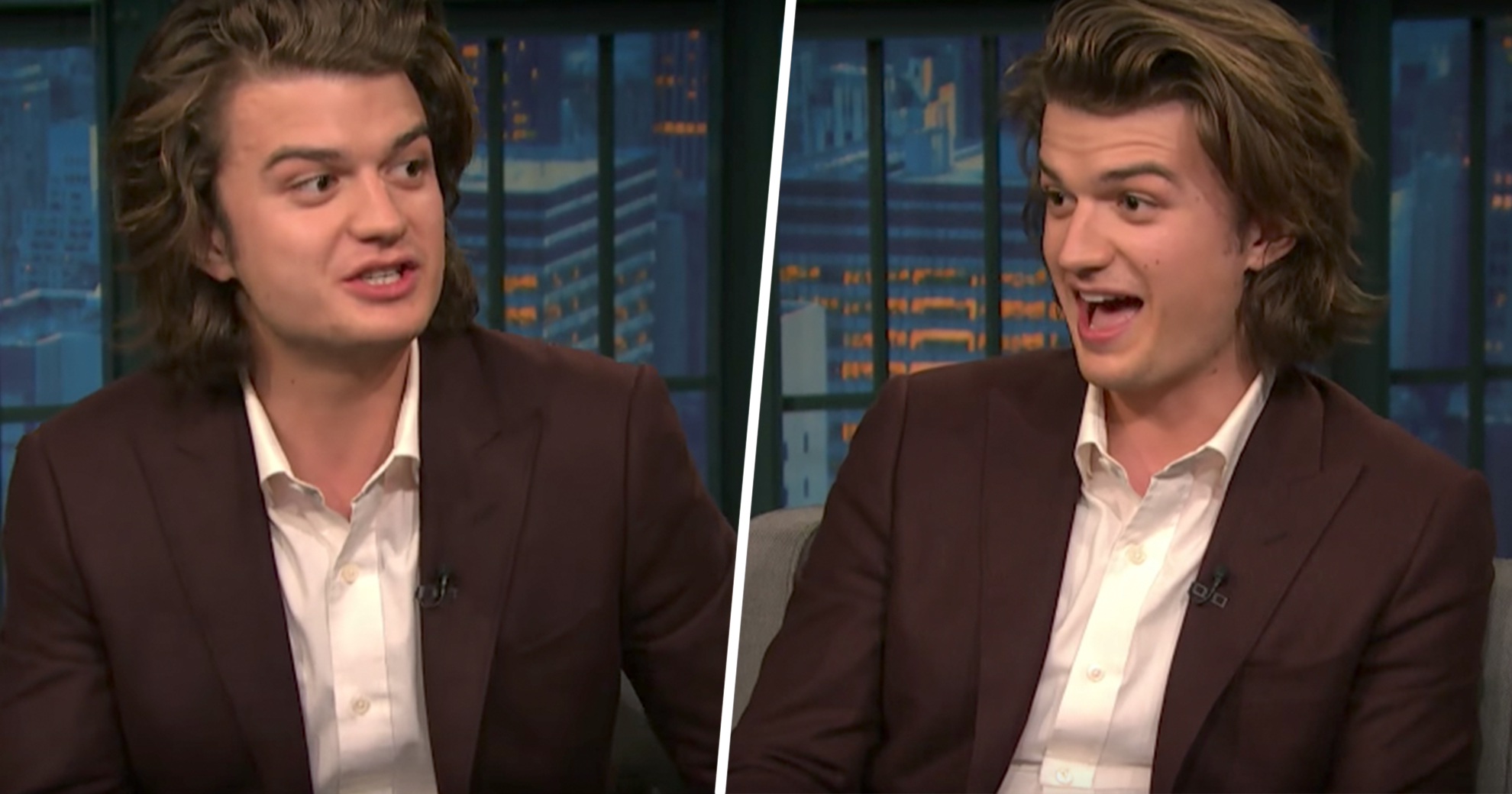 Stranger Things Star Joe Keery Tells Seth Meyers He Wasn't Prepared For Those Tight '80s Jeans