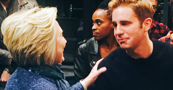 Hillary Clinton Saw 'Dear Evan Hansen' Last Night, And She Even Signed A Cast