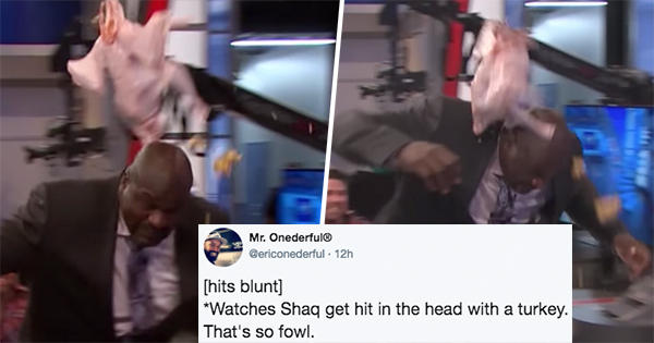 Shaquille O'Neal Just Had A Painful Run-In With A Frozen Turkey–And Our Heads Hurt