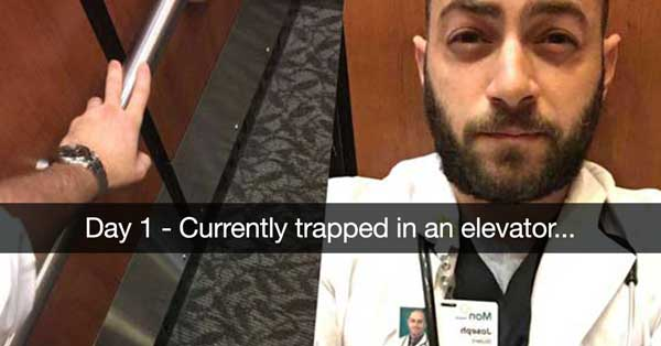 Doctor's Snapchat Story About Getting Trapped In An Elevator Is The Funniest Thing You'll See In The Next 3-5 Minutes