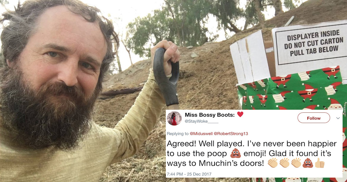 Tweet By Guy Who Sent Horse Poop To Steve Mnuchin Takes Internet By Storm