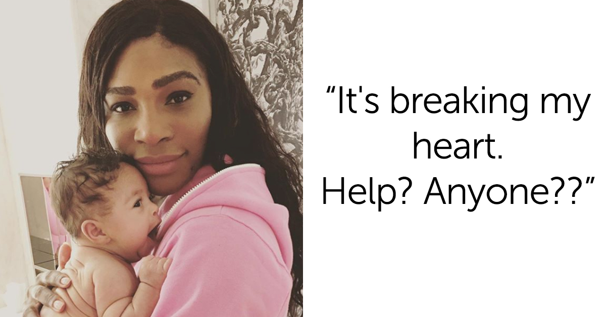 Serena Williams Asks For Help With Her Teething Baby—And Social Media Came To The Rescue