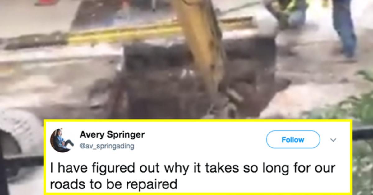 Video Of Men Using A Bizarre Machine To Do Roadwork Takes Internet By Storm