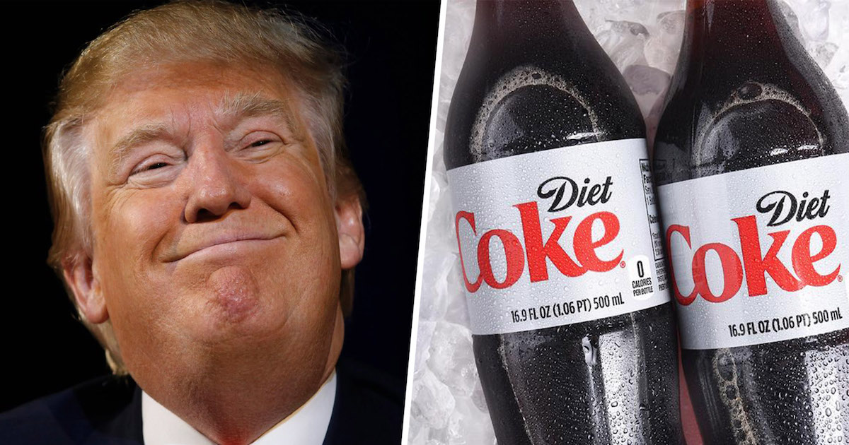 After Trump Revelation, Experts Weigh In About What A Dozen Diet Cokes A Day Will Do To You