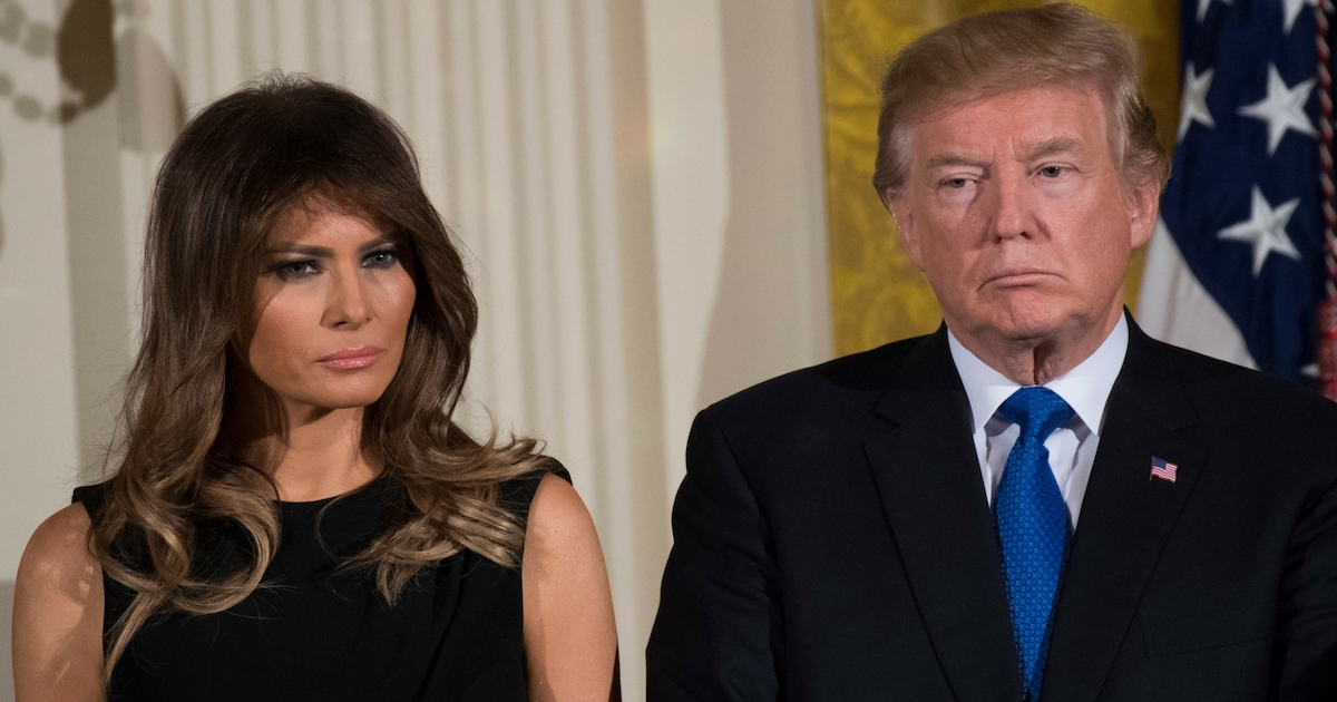 Melania Just Celebrated Her First Year In Office In A Photo Without Donald