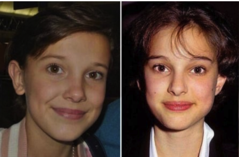 millie bobby brown and young natalie portman are