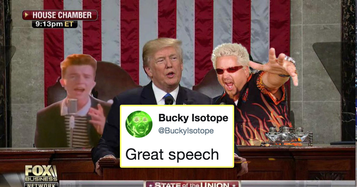 Just 23 Of The Funniest Responses To Donald Trump's State Of The Union Address