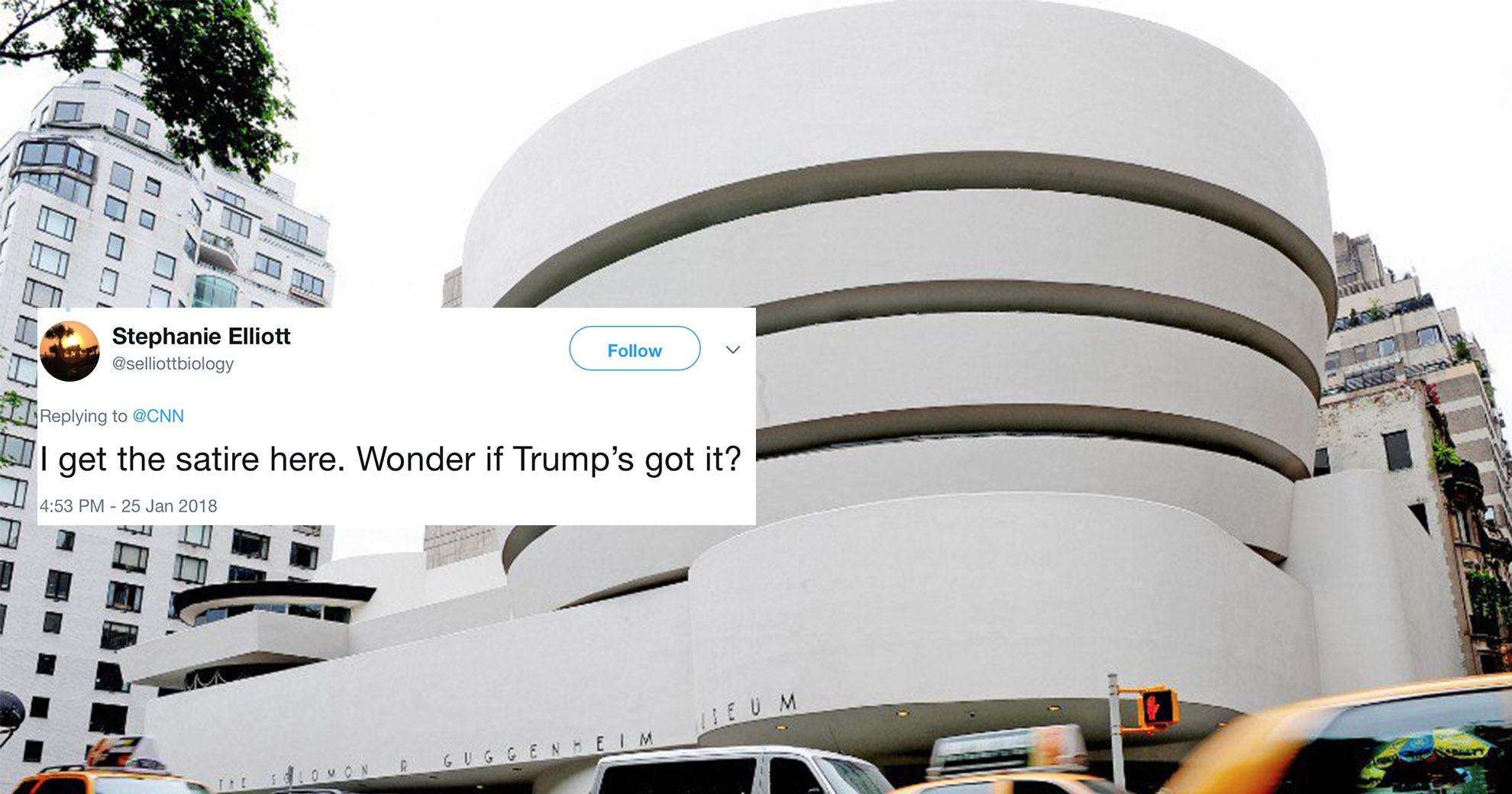 The Guggenheim Trolled President Trump Last Year, And We Learned About It Today