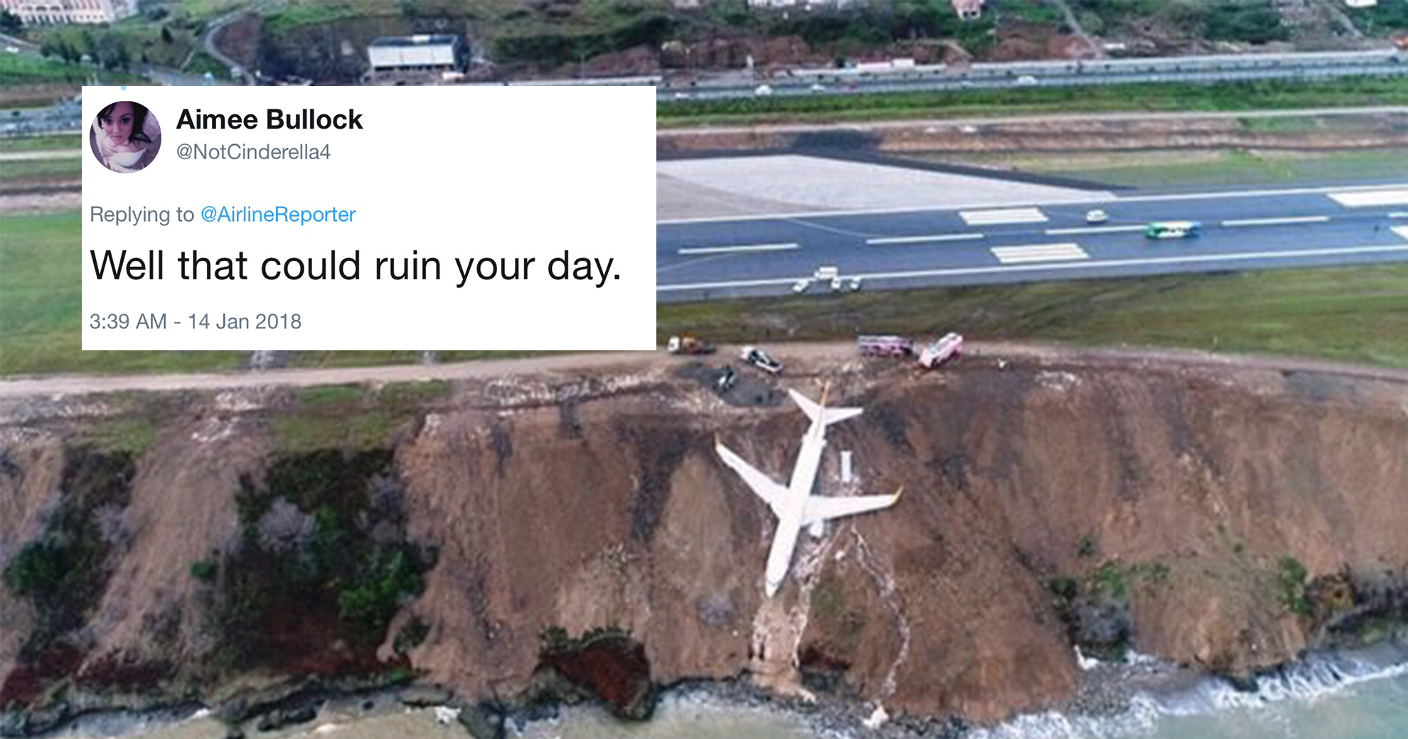 Plane Skids Off Runway After Landing In Turkey—And Ends Up Dangling Over A Cliff