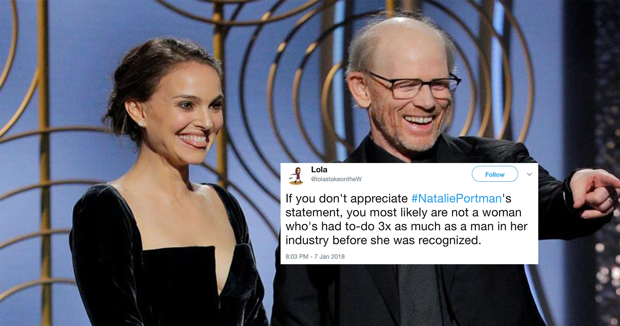 Natalie Portman Savagely Announces Best Director Nominees—And We're Applauding