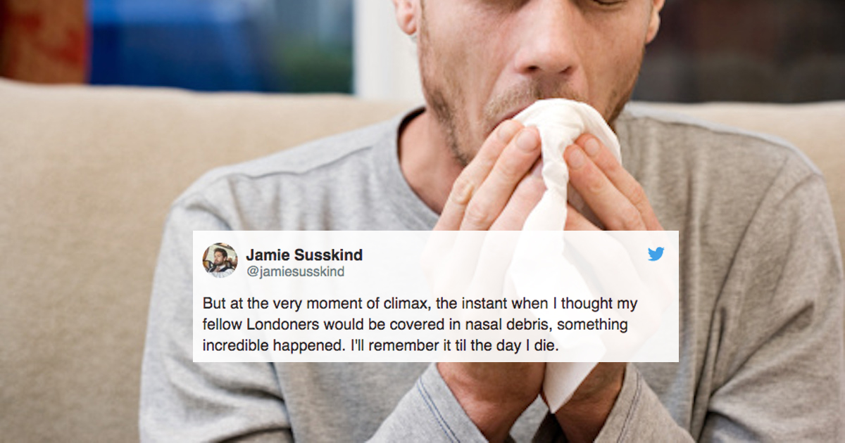 This Viral Story About A Teen Sneezing On A Crowded Train Is Drama At Its Finest