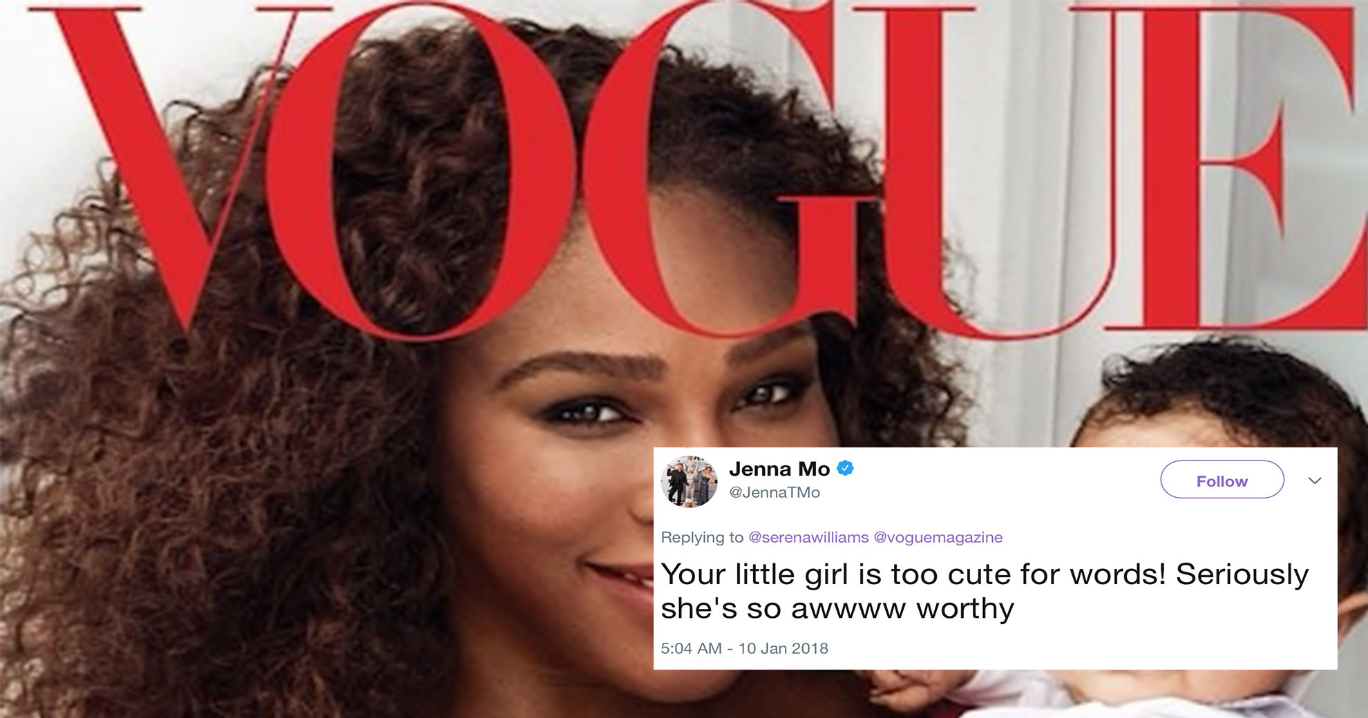 Vogue Cover Featuring Serena Williams And Her Baby Takes Internet By Storm