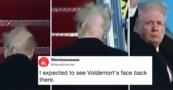 Donald Trump's Hair Blowing In The Wind Is Breathtaking, But Also The Most Savagely Roasted Thing On The Internet Right Now