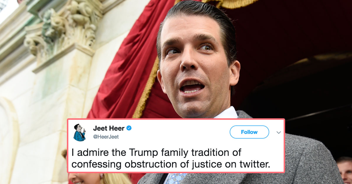 Donald Trump Jr. May Have Made His Dad's Legal Problems Much Worse With One Stupid Tweet
