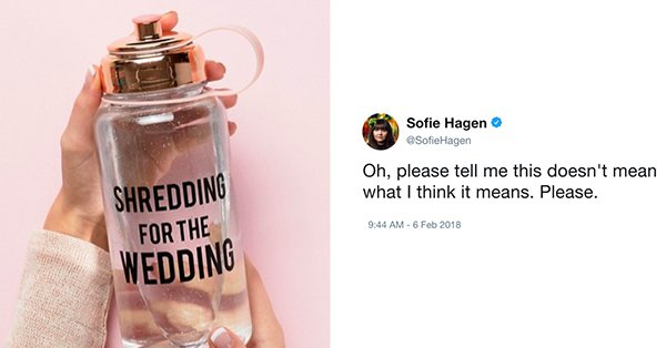 Twitter Is Dragging ASOS For Selling This Body-Shaming Water Bottle
