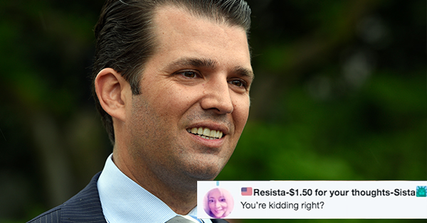 Twitter Says Donald Trump Jr.'s Abysmal Valentine's Day Gift Ideas Are 'Grounds For Divorce'