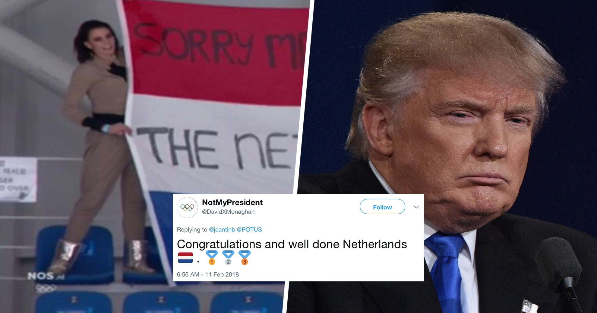 After Podium Sweep At The Olympics, The Netherlands Celebrated By Trolling Trump