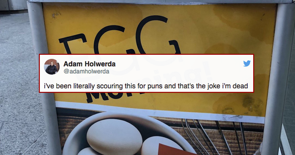 This 'Punny' Egg Advertisement Is So Freaking Weird, It's Making People Rip Their Hair Out