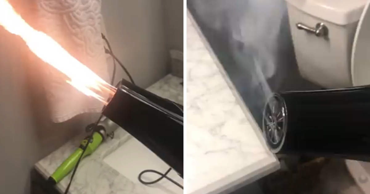 Woman Warns Against Buying Cheap Hairdryers After One Of Hers Turns Into A Flamethrower