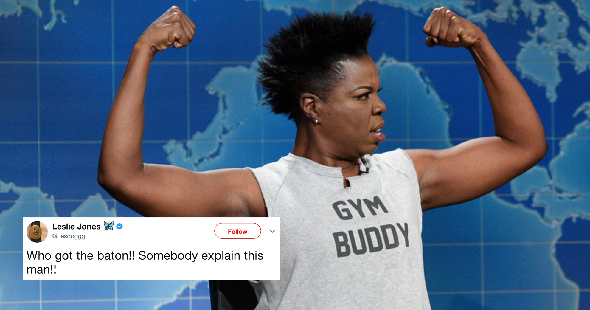 Leslie Jones Has Begun Live-Tweeting The Olympics—And The Games Are Officially On