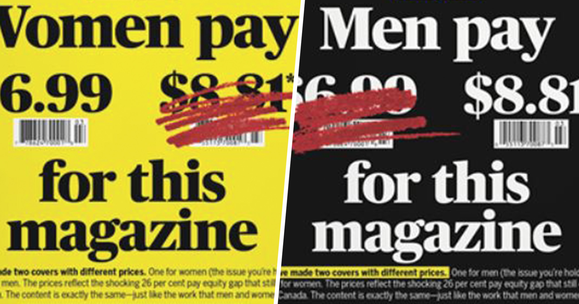 Canadian Magazine Makes A Strong Point By Charging Men More For Their Latest Issue