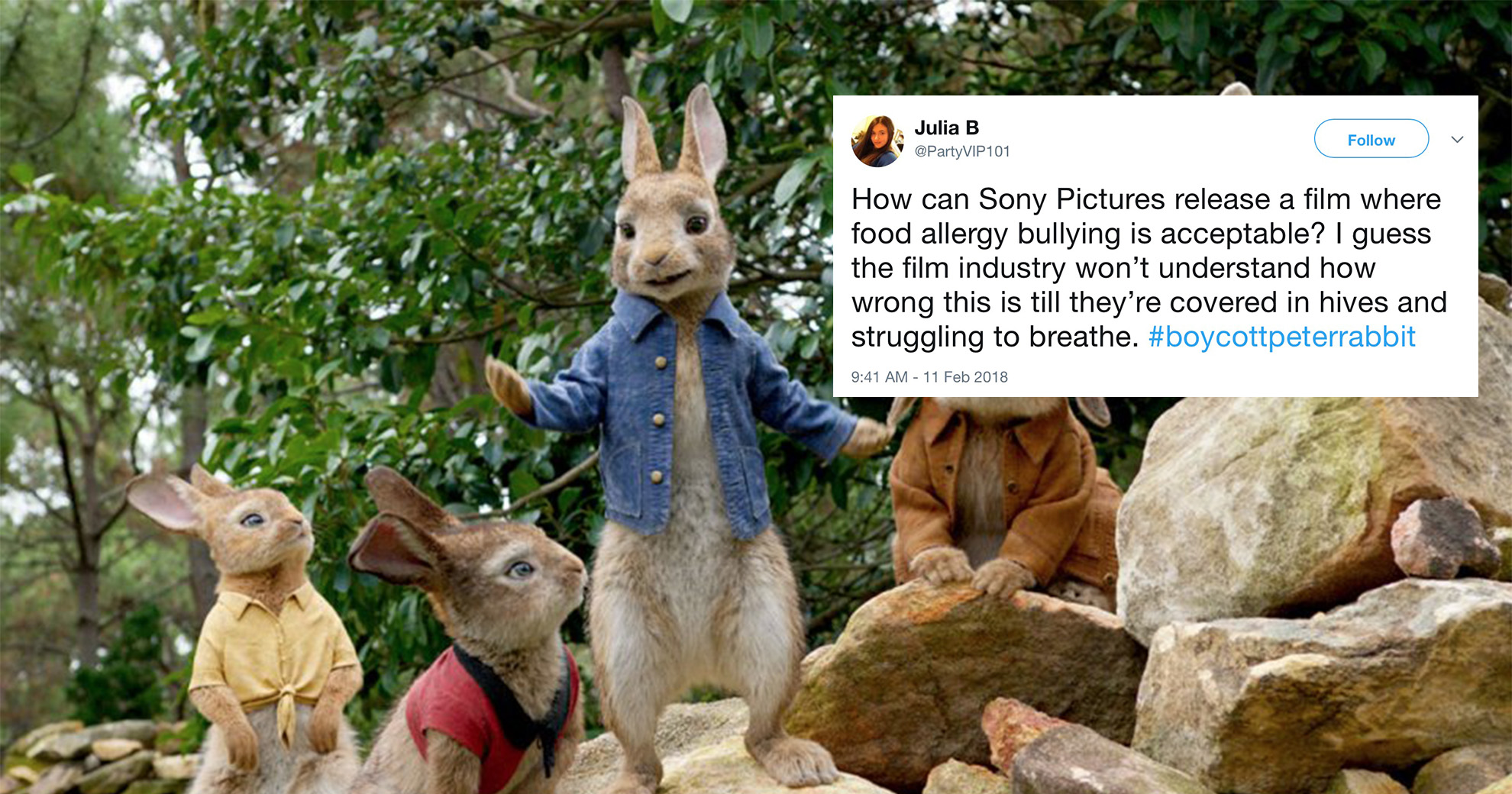 New 'Peter Rabbit' Film Sparks Backlash Over 'Food Allergy Bullying' Scene