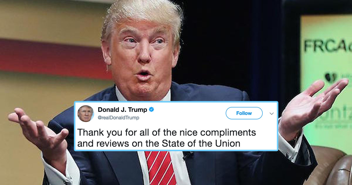 Trump Broke His Twitter Silence To Lie About The Size Of His State Of The Union Audience