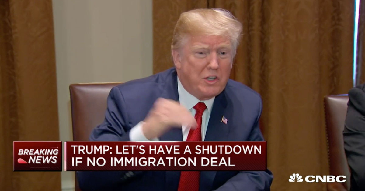Donald Trump Just Flip-Flopped On Shutting Down The Government