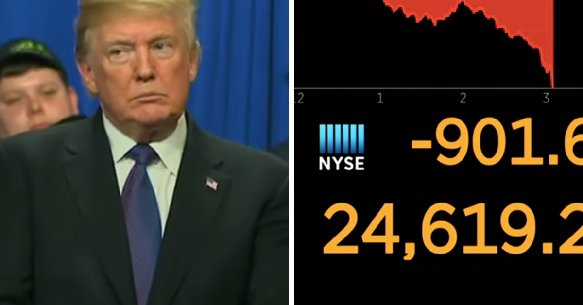 The Stock Market Tanked Today And Twitter Is Gleefully Telling Trump 'Told Ya So'