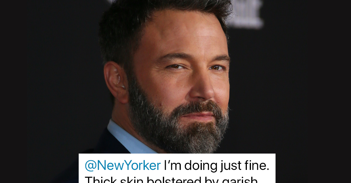 Ben Affleck Has A Funny Response To His Back-Tattoo Haters