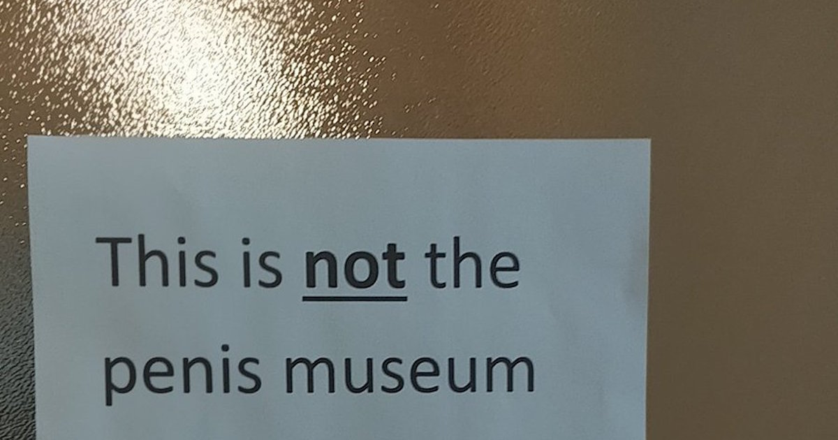 When Your Office Keeps Getting Mistaken For A Penis Museum, You Make A Snarky Sign