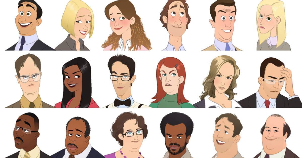 Artist Recreates 'The Office' Characters As Cartoons And The Results Are Incredible