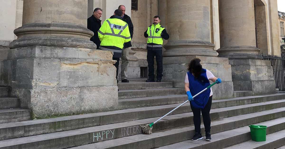 Viral Photo Of Woman Cleaning Steps Stokes Anger And Rage On Twitter