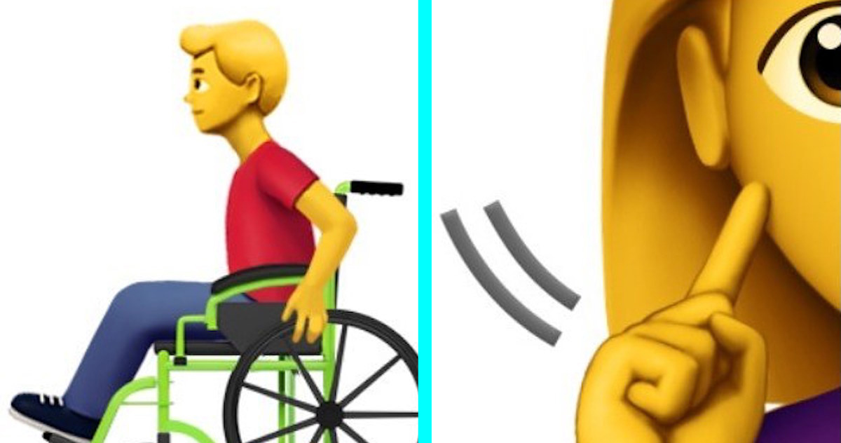 Apple Just Revealed 13 Empowering New Emojis For People With Disabilities