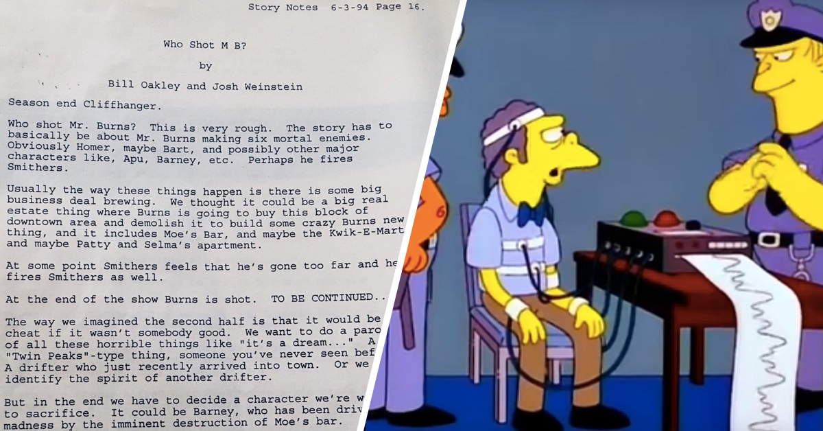 The Original 'Who Shot Mr. Burns?' Pitch For 'The Simpsons' Reveals How Different It Might Have Been