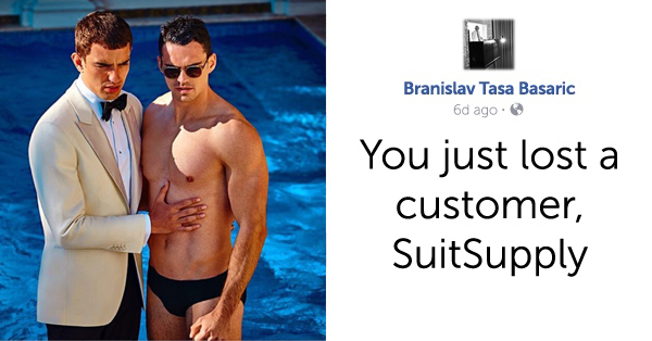 Suit Company Loses 10,000 Instagram Followers Over Ads Featuring Same-Sex Couples