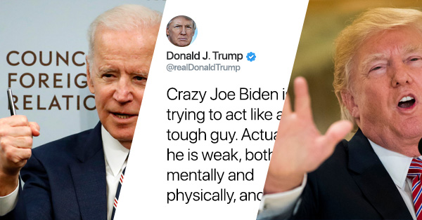Trump Responds To Joe Biden's 'Threats' With Some Twitter Smack Talk Of His Own