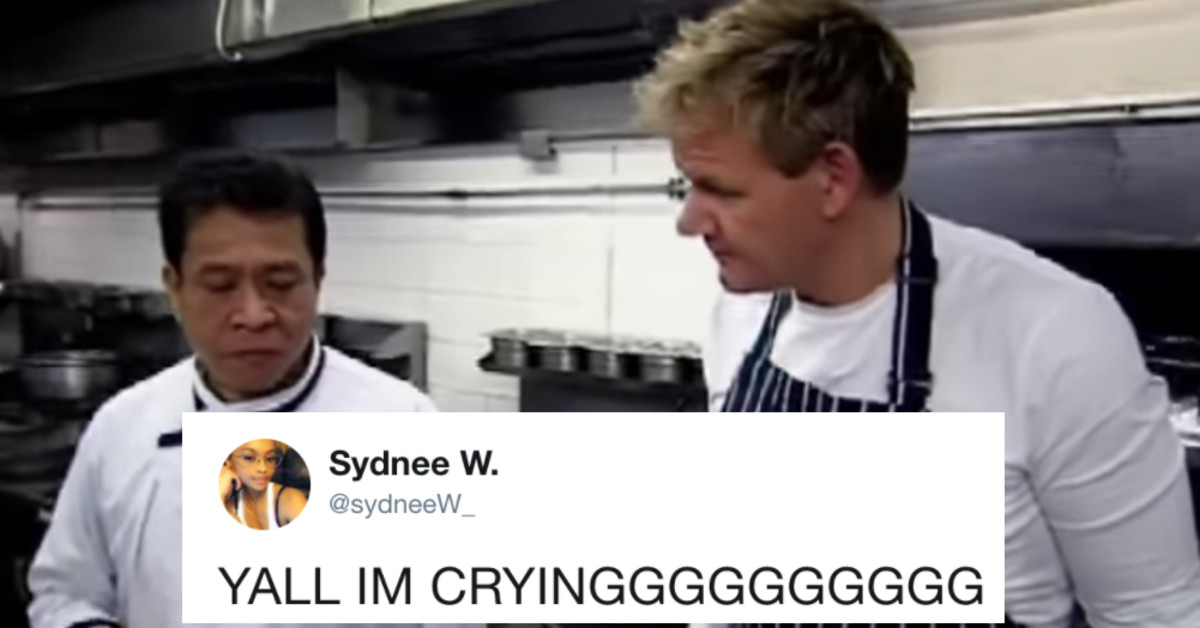 Twitter Is Obsessed With This Clip Of Gordon Ramsay Being Told His Cooking Is Awful