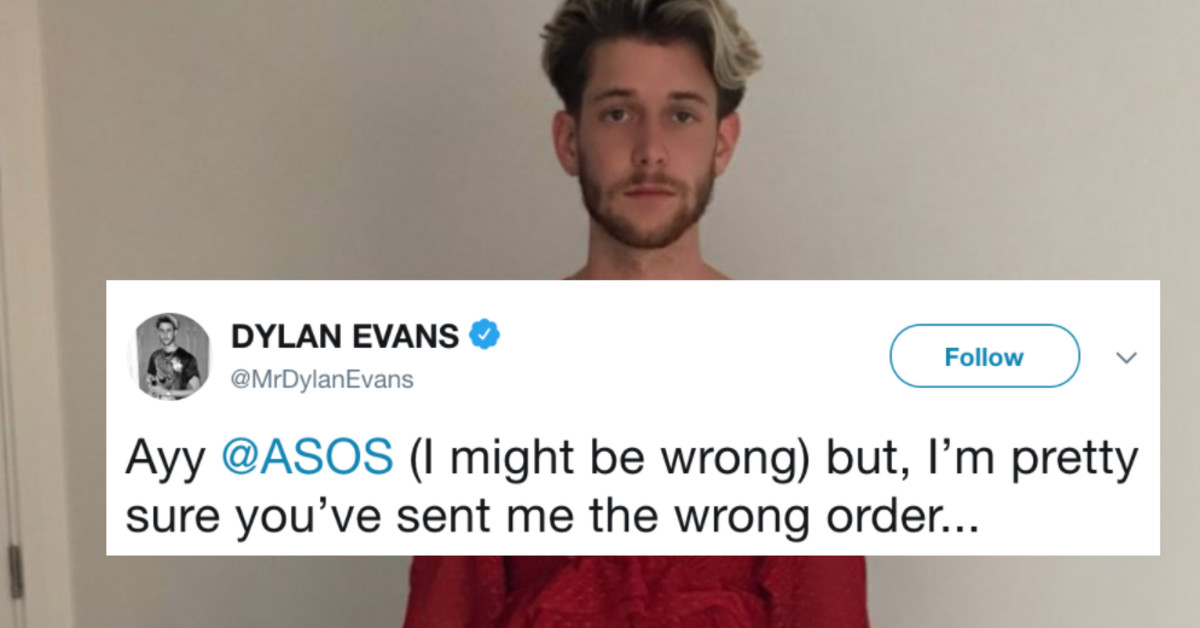 Man Orders Pants Online, Receives Red Dress Instead, Puts It On Anyway