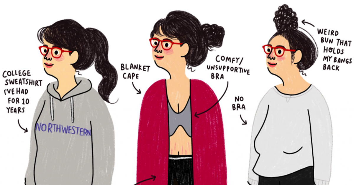 "This Illustrator's Relatable ""Work From Home Fashions"" Have Freelancers And Moms Everywhere Howling"