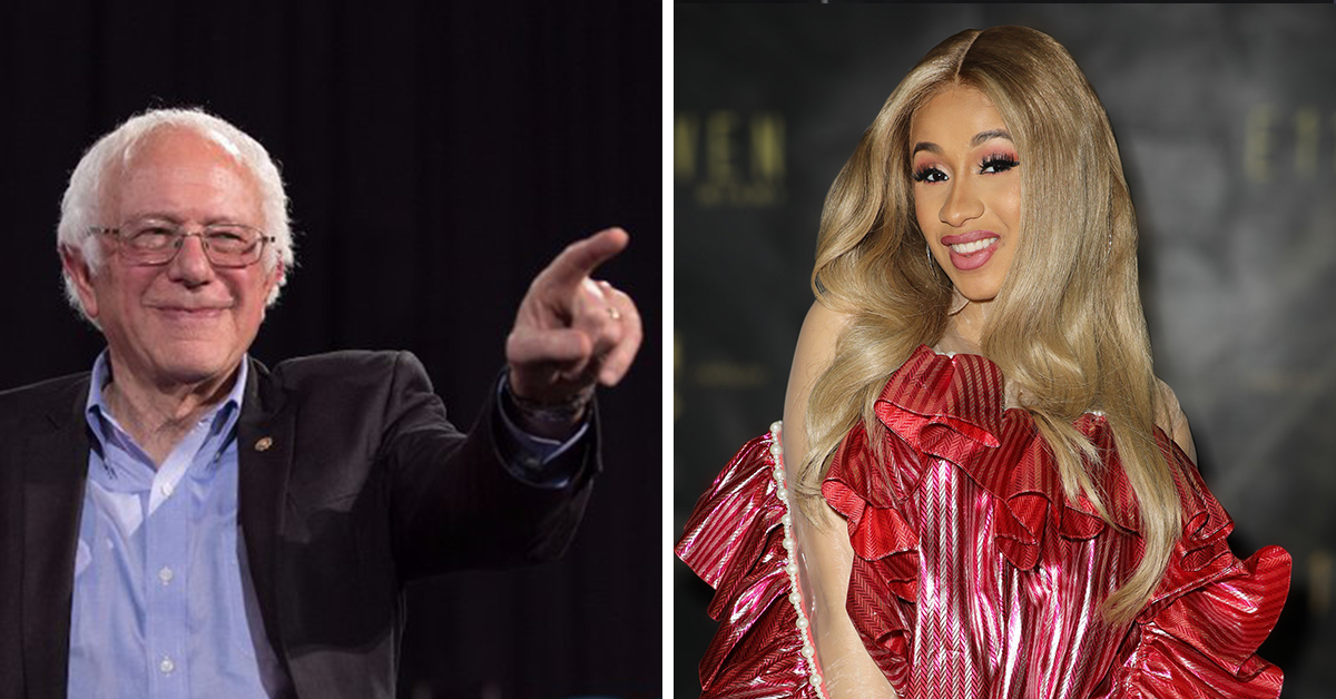 Bernie Sanders Claims Cardi B's Statement On 'Who Really Made America Great Again' Is 100% Right
