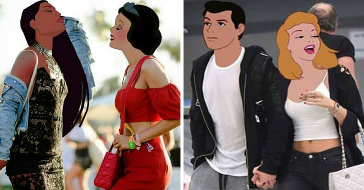 Artist Photoshops Disney Characters Onto Celebrity Photos And The Result Is Amazing