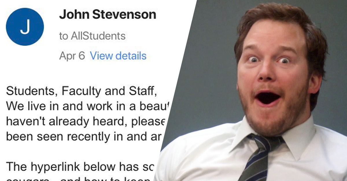 College Student Accidentally Sends Embarrassing Email About His Mom To The Entire School