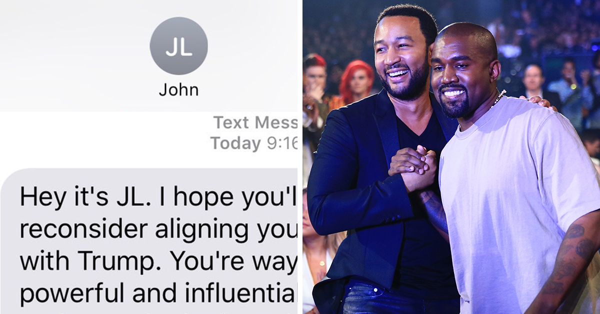 John Legend Reached Out To Kanye Through Text And Kanye Put Him On Twitter Blast