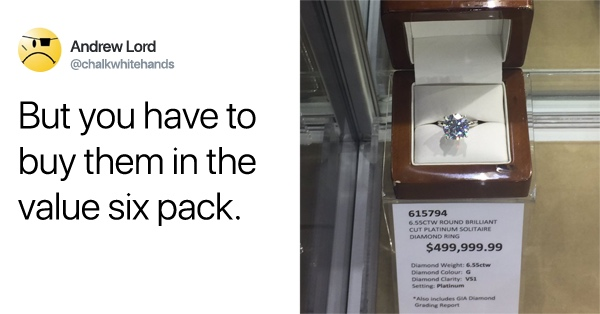 A Costco In Australia Is Selling A Really Expensive Diamond Ring — And We Have Questions